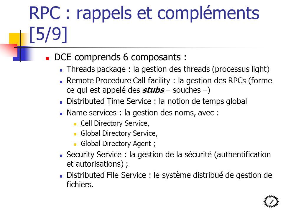 RPC : rappels et compléments [5/9]